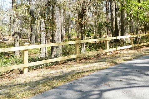 2 Rail Wood Fence